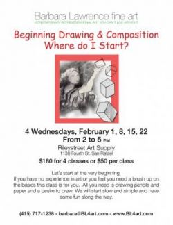 Barbara Lawrence: Beginning Drawing & Composition: Where do I Start?