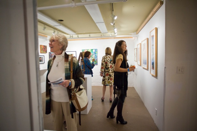 Art Works Downtown Gallery Reception - Guests by Pamela Gentile