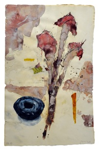 "Flora Brasilinesis #121, 2008, watercolor, gouache, conte, ink on 1870 handmade paper, 19 1/2"" x 12 3/8"""