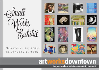Small Works 2014 postcard