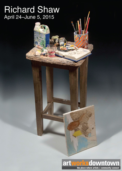 Richard and Martha Shaw Table with Unfinished Painting