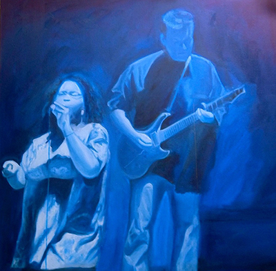 Richard  Weinberger The Blues oil on canvas30X30