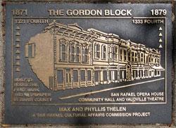 Historic Gordon Block Plaque